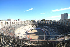 The roman's arena  of Arles Stock Photos