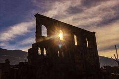 Roman`s ruins in Italy stock image