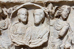 Roman sarcofaag Stock Afbeeldingen