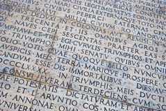 Roman scripture Royalty Free Stock Photography
