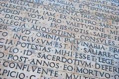 Roman scripture Stock Image