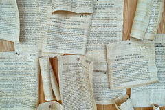 Roman scrolls replication Royalty Free Stock Image