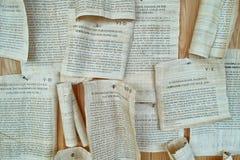 Roman scrolls replication Royalty Free Stock Image
