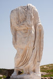 Roman sculpture. In the ruins of segobriga (Spain Stock Image