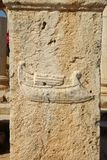 Roman sculpture, Libya. Sculpture in the roman ruins of Leptis Magna in Libya Royalty Free Stock Photography