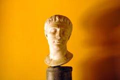 Roman sculpture of a male head, portrait of a Roman citizen Stock Photo