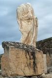 Roman sculpture of a man. A sculpture in the famous roman ruins of segobriga Stock Photography