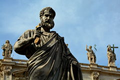 Roman Sculpture of St. Peter at the Vatican Stock Photos