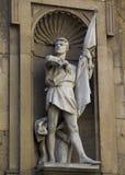 Roman sculpture of a warrior-defender hero, Michel de Landa. Ancient sculpture of the Roman warrior-defender hero, Michel de Landa Stock Photo