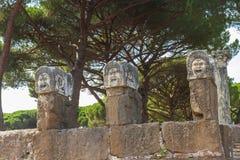 Roman sculptures at Ostia Antica Italy Royalty Free Stock Photo