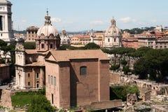 Roman Senate. At the ancient Roman Forum area of rome Stock Image