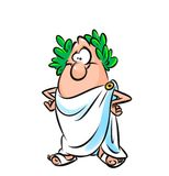Roman senator cartoon illustration Stock Images
