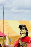 Roman Sentry guarding tent Royalty Free Stock Photo