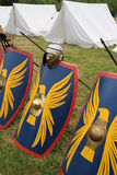 Roman shields. In Kalkriese in Germany Royalty Free Stock Photos