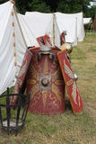 Roman shields. In Kalkriese in Germany Stock Photography
