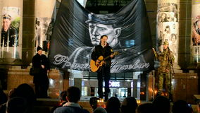 Roman Shukhevych Memory dagmöte i Kiev, Ukraina, stock video