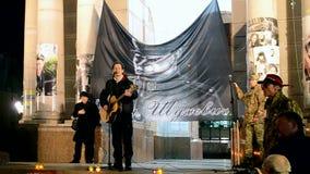 Roman Shukhevych Memory-Tagessitzung in Kiew, Ukraine, stock footage