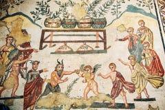 roman sicily för mosaik villa Arkivfoton