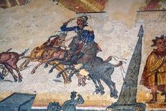 roman sicily för mosaik villa royaltyfria bilder