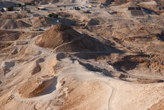 Roman siege ramp at Masada Royalty Free Stock Image
