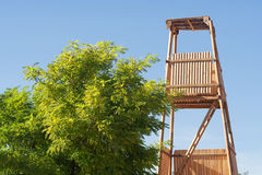 Roman siege tower. Costructed to protect assailants while appriaching a fortification Royalty Free Stock Image