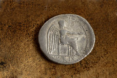 Roman Silver Coin 89 BC Stock Image
