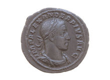 Roman silver coin Royalty Free Stock Images