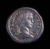 roman silver för antoninusmynt royaltyfri foto