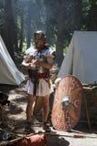 roman soldat arkivfoto