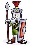 roman soldat stock illustrationer
