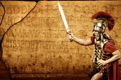 roman soldat för legionary royaltyfria foton