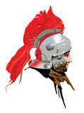 Roman Soldier. A Roman Soldier with a bright red helmet plume royalty free illustration