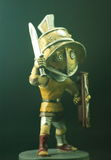 Roman soldier. A figure , isolated on black background Royalty Free Stock Photography