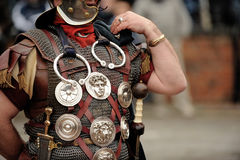 Roman Soldier. A Roman Soldier dressed to fight a battle/war royalty free stock photography