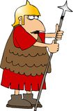 Roman soldier. This illustration depicts a Roman soldier holding a spear Stock Photography