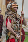 Roman soldier in battle costume Stock Photography