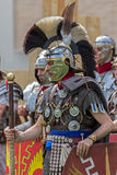 Roman soldier in battle costume Royalty Free Stock Image