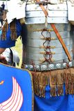 Roman soldier in blue armour Stock Photography