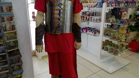 Roman Soldier Costume video estoque