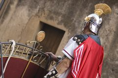 Roman Soldier at Easter. Roman soldier on his carriage at Easter Stock Images