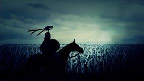 Roman Soldier et une grande armée marchant à la guerre illustration stock