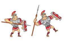 Roman Soldier Game Sprite Fotografering för Bildbyråer