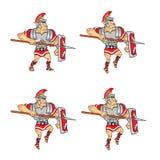 Roman Soldier Game Sprite Fotografia Stock Libera da Diritti