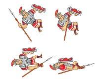 Roman Soldier Game Sprite Immagini Stock Libere da Diritti