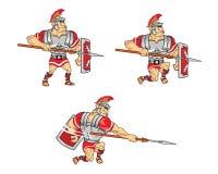 Roman Soldier Game Sprite Royaltyfria Foton