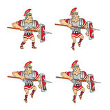 Roman Soldier Game Sprite Royalty Free Stock Photography