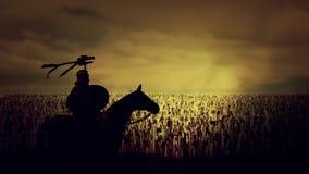 Roman Soldier Holding le Draco devant une armée énorme illustration de vecteur