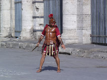 Roman soldier. Man in ancient Roman soldier outfit Royalty Free Stock Photography