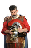 Roman Soldier Praying Royaltyfria Bilder