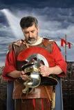 Roman Soldier Praying royalty free stock images